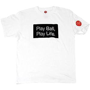 MIZUNO(ミズノ) 2017 球活オリジナルTシャツ T-1 12JA7Q5101L 01)白xBASICロゴ L