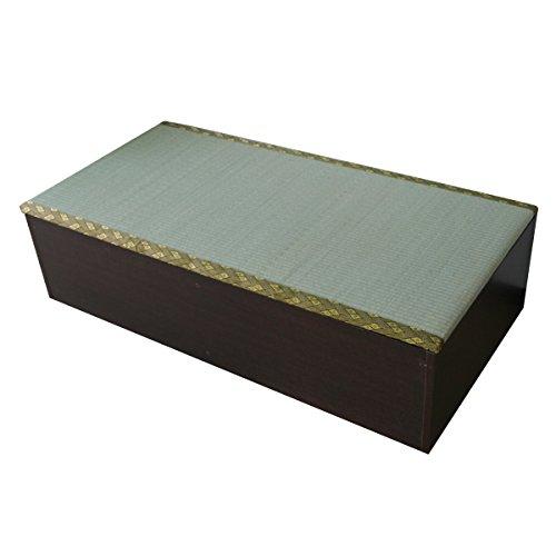 ユニット畳 1畳タイプ 高床式 高床式ユニット畳 畳収納 畳ボックス 置き畳 い草 イ草 日本製 IS002DBR J-Supply