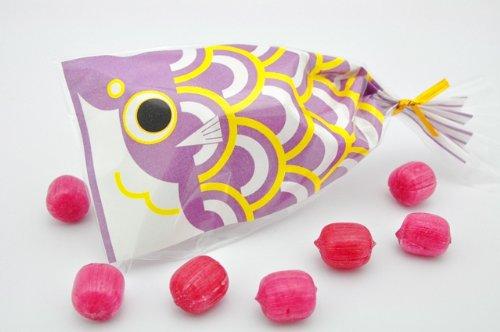 こどもの日 プチ京鯉のぼり 1ケース 50袋入り 紫(ブルーベリー)