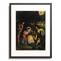 バッサーノ Bassano (フランチェスコ[息子] Francesco da Ponte) Umkreis 「Adoration of the Shepherds.」 額装アート作品