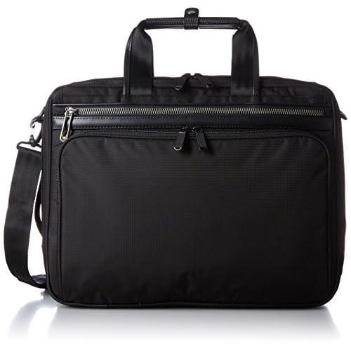[エースジーン] ace.GENE 軽量ビジネスバッグ フレックスライト フィット 40cm A4サイズ 2気室 PC収納 エキスパンダブル 54559 01 (ブラック)