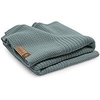 Bugaboo Soft Wool Blanket, Petrol Blue Melange by Bugaboo