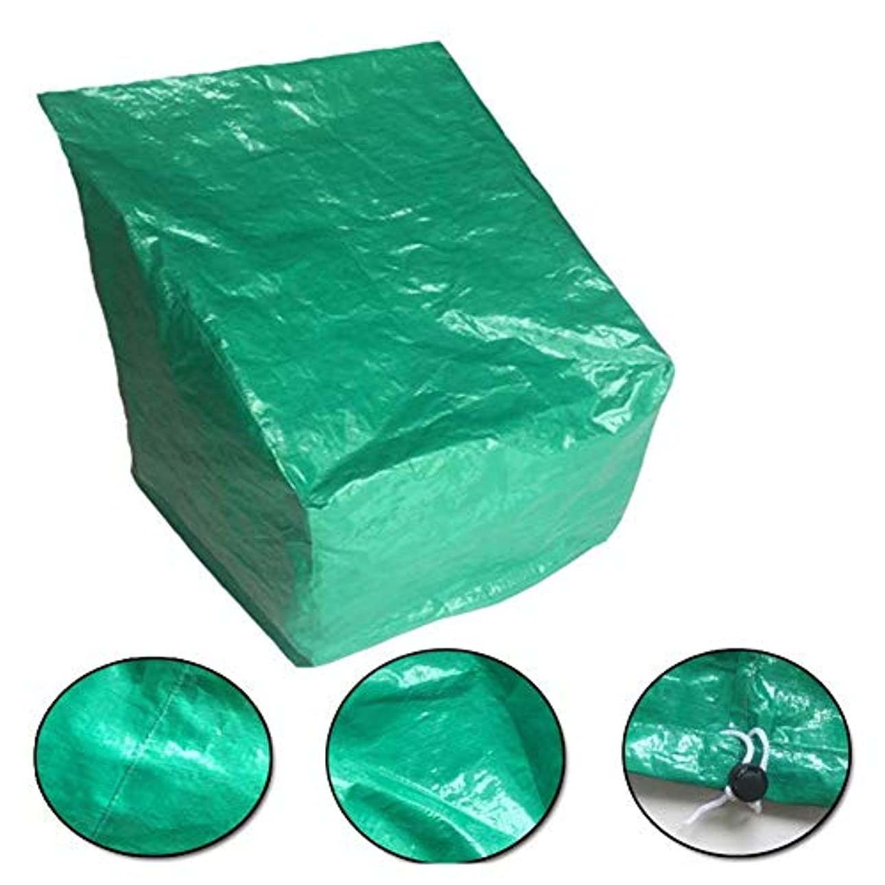 充電音楽を聴く空のZEMIN ターポリンタープ 庭園 家具 カバー 椅子 dest 縫い ターポリン 防水 防塵 フード オックスフォード布、 カスタマイズ可能、 3サイズ (色 : Green, サイズ さいず : 66x66x120CM)