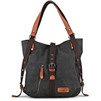 SHANGRI-LA Purse Women's Canvas Tote Bag Casual Shoulder Bag Handbag Rucksack Backpack