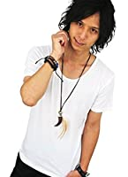 Tシャツ 半袖カットソー(Uネック)ホワイト 無地・シンプル メンズ ユニセックス 綿 インナー 薄手 カラバリ swanunion sale2-f271-m