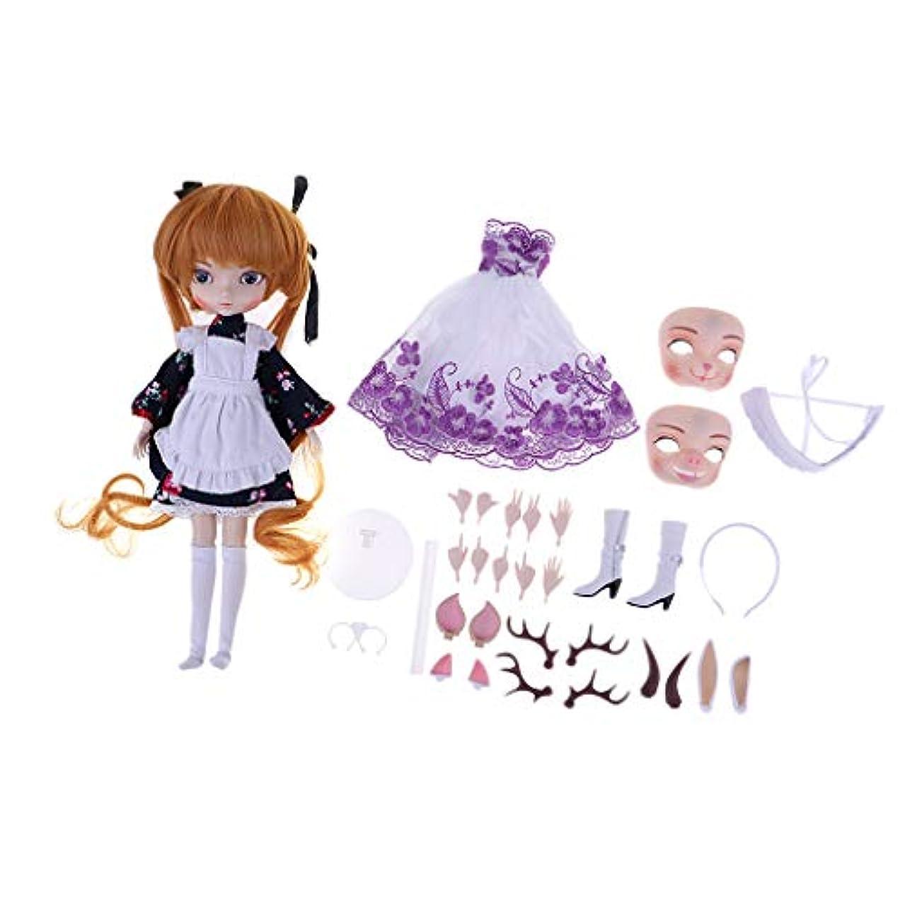 メダル速いDYNWAVE 人形衣装 ドレス 靴 ドール服 人形服 1/6スケール SD人形に対応 キット 子供の日 プレゼント