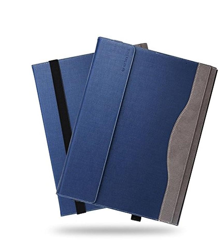 ピル行商北Heycase Surface Book 2 15インチケース PUレザーケース 保護ケース カバー 着脱可能 2Way ブルー(15 inch - surface book 2, blue)