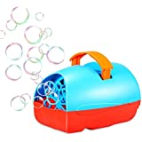 Bubble Machine for Kids, Theefun Automatic Bubble Blower Durable Bubble Maker, USB or Battery Operated, Over 500 Bubbles Per Minute for Outdoor or Indoor Use, Christmas Gift, Blue/Red