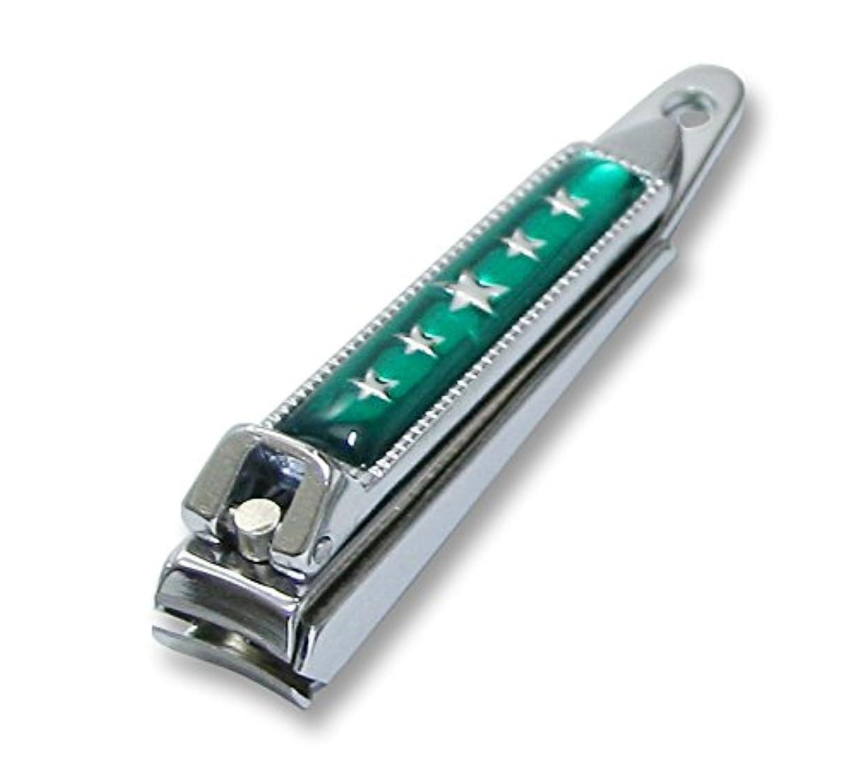 始まり記事口ひげKC-052GR 関の刃物 関兼常 チラーヌ爪切 小 緑