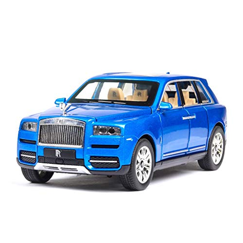 YGC24 1時24分ロールスロイスカリナンシミュレーションカーモデルのサウンド照明効果プルバック機能オフロード車のモデルギフトの装飾 ( Color : RED )