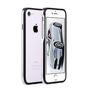 iPhone7 アルミ製メタルバンパー最新型 ツートン【SWORD】【メーカー純正・真正品】 (iphone7, ジェットブラック x シルバー)