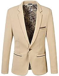 YFFUSHI テーラードジャケット メンズ 全8色 大きいサイズ スーツ生地 紳士 正規品 上品 きれいめ 秋冬 カジュアル スリム ビジネス 長袖 一つボタン S-5XL …
