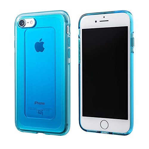 GEMS Hybrid Case for iPhone 7/ GRAMAS COLORS GEMS(ジェムズ) iPhone7用クリアケース(iPhone 7, Turquoise Blue)カバー MIL SPEC(ミルスペック)シンプルで美しい耐衝撃ケース