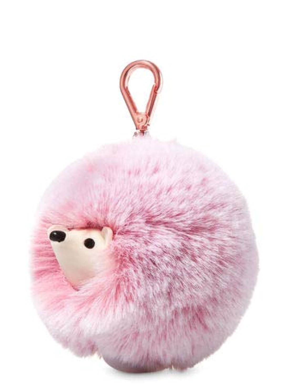 コーンウォールエスカレート巨大な【Bath&Body Works/バス&ボディワークス】 抗菌ハンドジェルホルダー ピンクヘッジホッグポンポン Pocketbac Holder Pink Hedgehog Pom-Pom [並行輸入品]