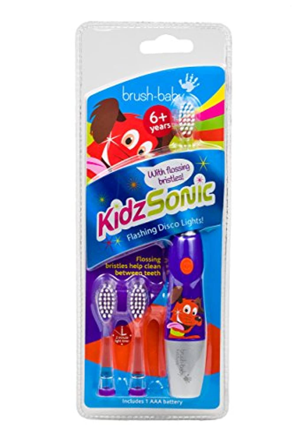 遊びます受け入れた反論者Brush-Baby KidzSonic Electric Toothbrush 6+ years with flashing disco lights PURPLE - ブラシ - ベイビーKidzSonic電動歯ブラシ...