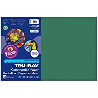 Tru-Ray PAC103053BN Construction Paper Dark Green 12 x 18 50 Sheets per Pack 5 Packs [並行輸入品]