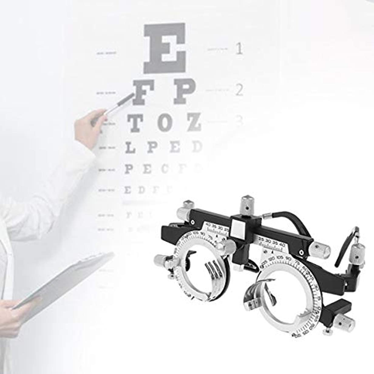 硫黄アマゾンジャングル無し調整可能なプロフェッショナルアイウェア検眼メタルフレームオプティカルオプティクストライアルレンズメタルフレームPDメガネアクセサリーメタルフレーム