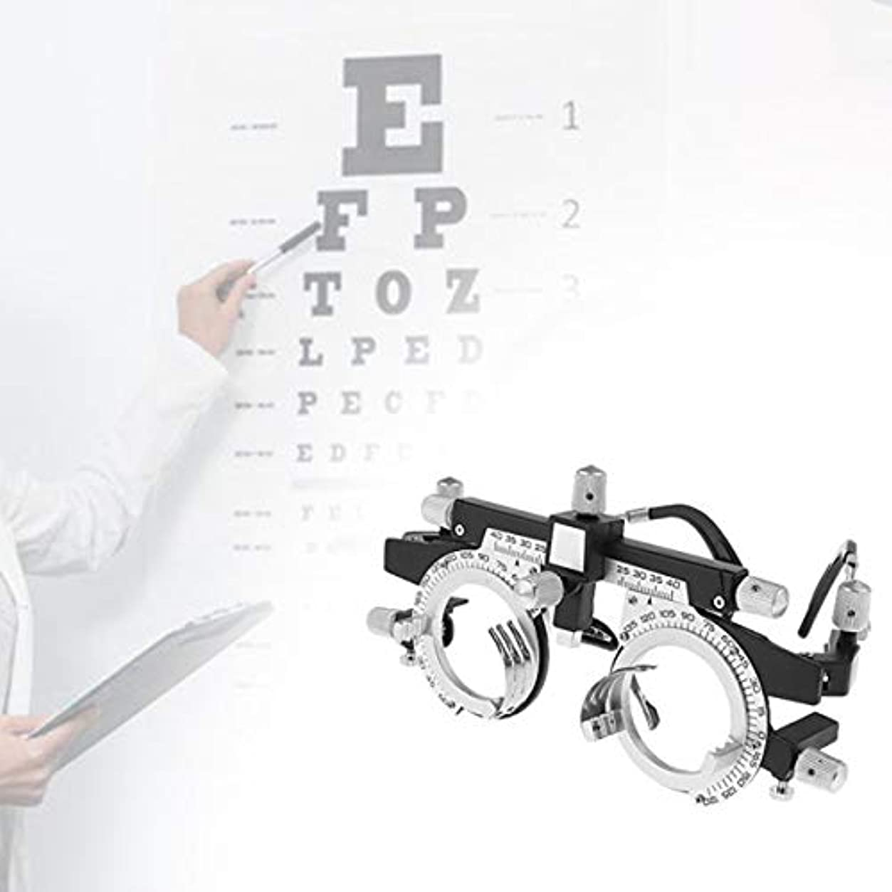 重要インフレーション魔術調整可能なプロフェッショナルアイウェア検眼メタルフレームオプティカルオプティクストライアルレンズメタルフレームPDメガネアクセサリーメタルフレーム