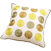 シンプルでモダンなコットン枕クッション幾何学的な刺繍四角枕オフィス枕クリエイティブ