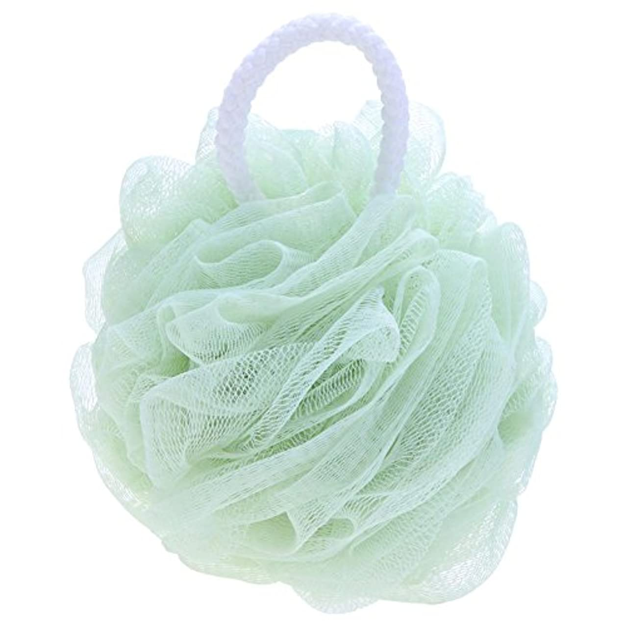件名振動させる外側Demiawaking 泡立てネットフラワーボール 泡ボール 柔らかい ボディ洗い お風呂用 泡立ち ブルー