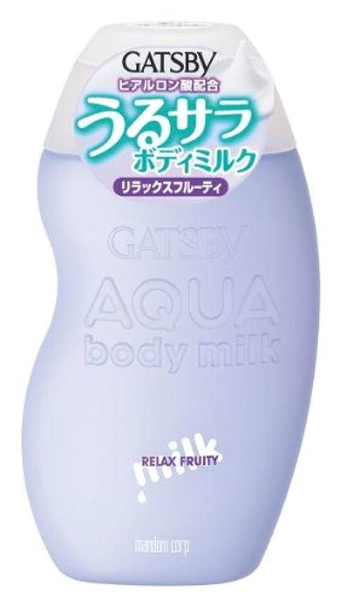 ハッピー有害なウィスキーGATSBY (ギャツビー) アクアボディミルク リラックスフルーティ 180mL