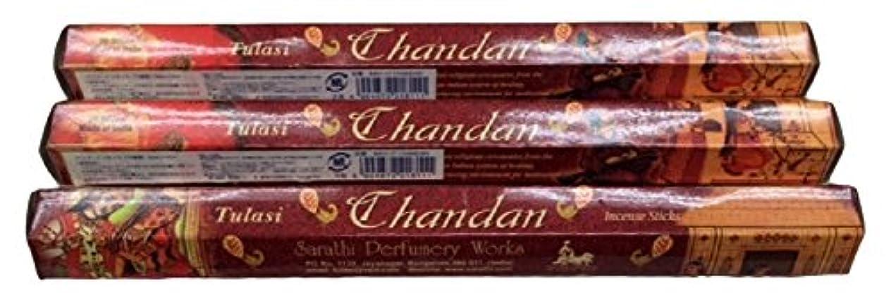 負朝食を食べる順番TULASI サラチ STICKS お香 60本入り CHANDAN チャンダン 640117-3