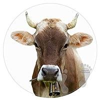 ベッドルームの床シャワーラウンドカーペットタオルバスルーム滑り止めバスマット-牛農場の動物