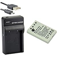 DSTE® アクセサリーキット Nikon EN-EL5 互換 カメラ バッテリー 1個+USB充電器キット対応機種 Coolpix P530 P5000 P5100 P6000 3700 4200 5200 5900 7900 P500