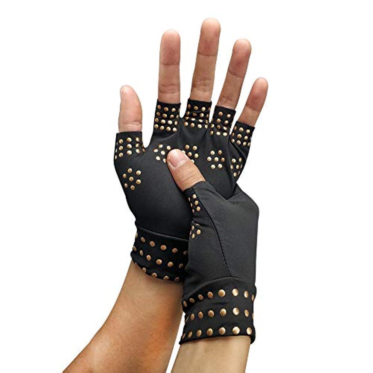 調整閉じる発動機コンプレッショングローブ、グローブフィット関節炎の痛みを軽減コンプレッショングローブ手根管のリリーフ関節炎のリリーフ手リウマチ用リストブレース