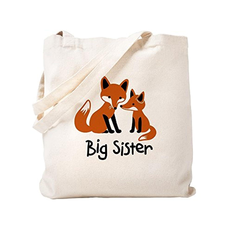 CafePress – Big Sister – Mod Fox – ナチュラルキャンバストートバッグ、布ショッピングバッグ S ベージュ 0767167298DECC2