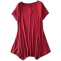 [newrong] シャツ ドレス カットソー シンプル レディース