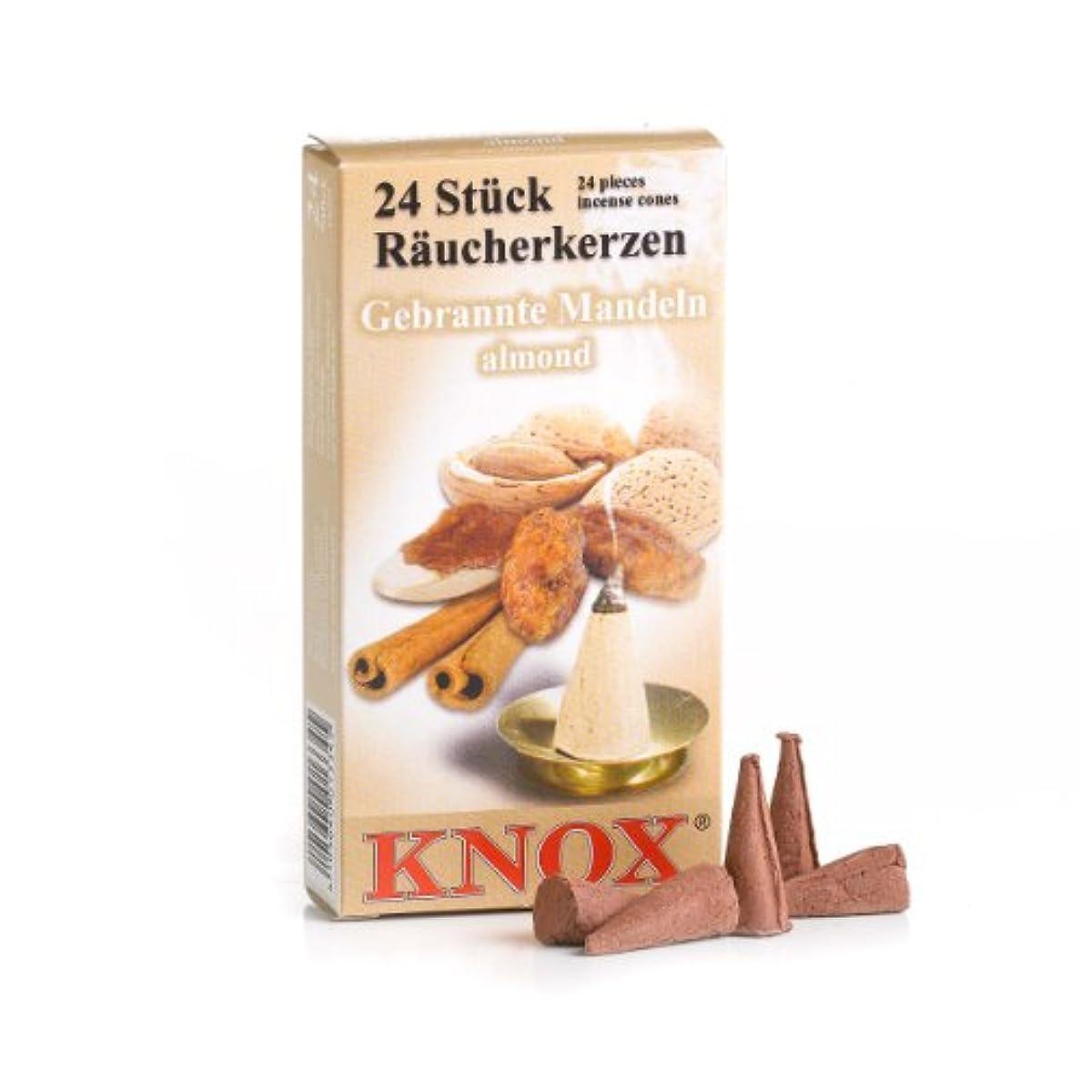 咳捧げる告白するKnoxアーモンド香りつきIncense Conesパックof 24