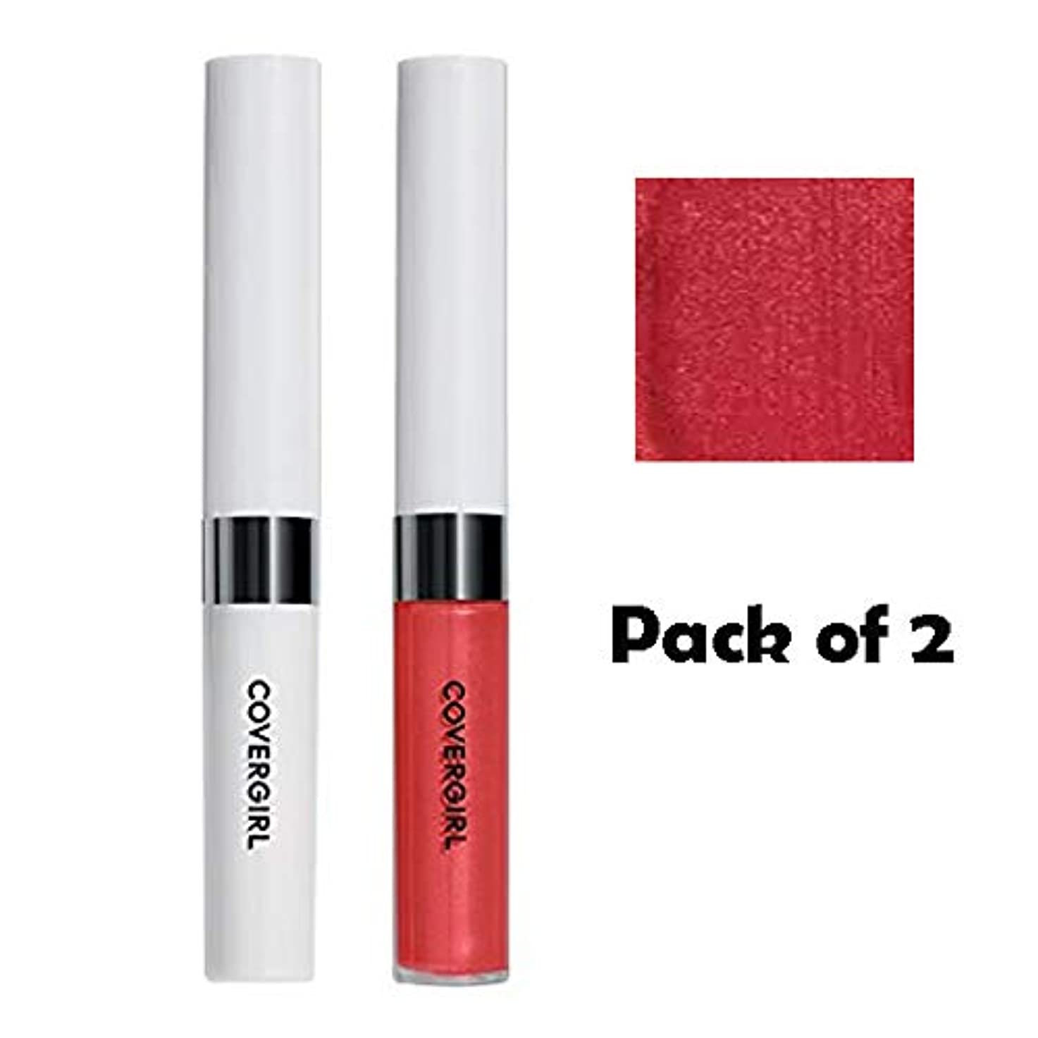 COVERGIRL Outlast All-Day Moisturizing Lip Color - Sparkling Wine 522 (2 Packs) [海外直送品] [並行輸入品]