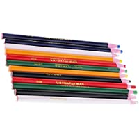 Fenteer クレヨン フリーカットチョーク鉛筆 裁縫マーク マーキングとトレースツール 布 12本