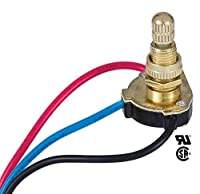 """B&P Lamp 3-Way, 4-position, 2 Circuit Rotary Switch with removable knob, 5/8"""" shank [並行輸入品]"""