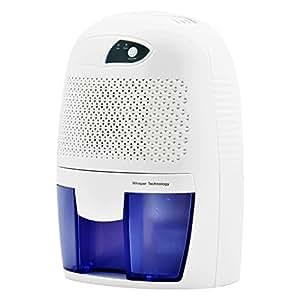 コンパクト除湿機Wuudi除湿器 カビ/梅雨/結露対策 消臭・抗菌効果 省エネ 静音 500ML どこでも置ける