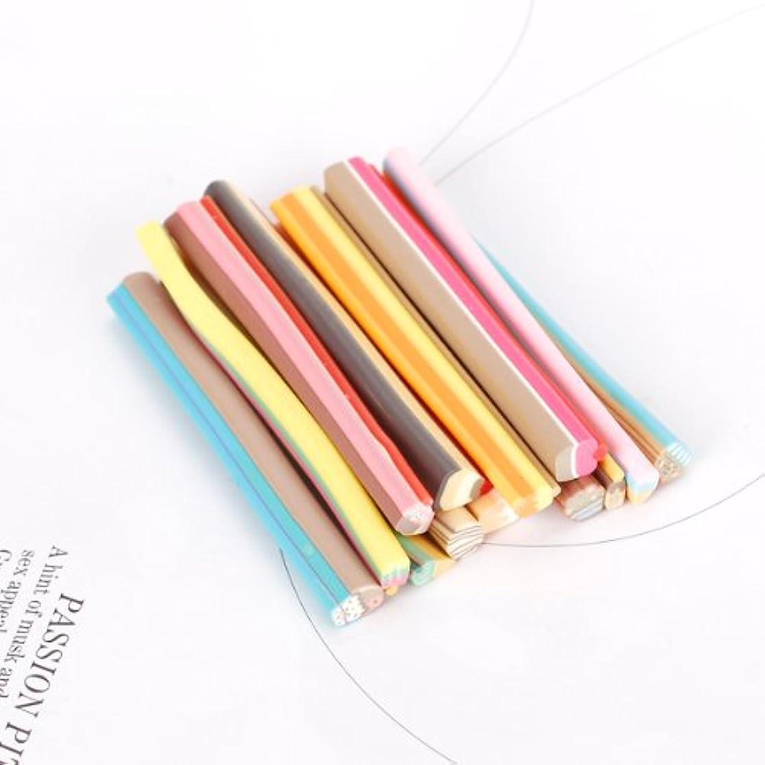 形状クリエイティブ楽観的14本セット スライス棒 ネイルフルーツ棒 ネイルパーツ 樹脂粘土 カット ネイル デコ用