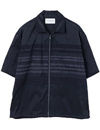 [トゥモローランド]TOMORROWLAND 18S/S パネルストライプ ジップシャツ NAVY