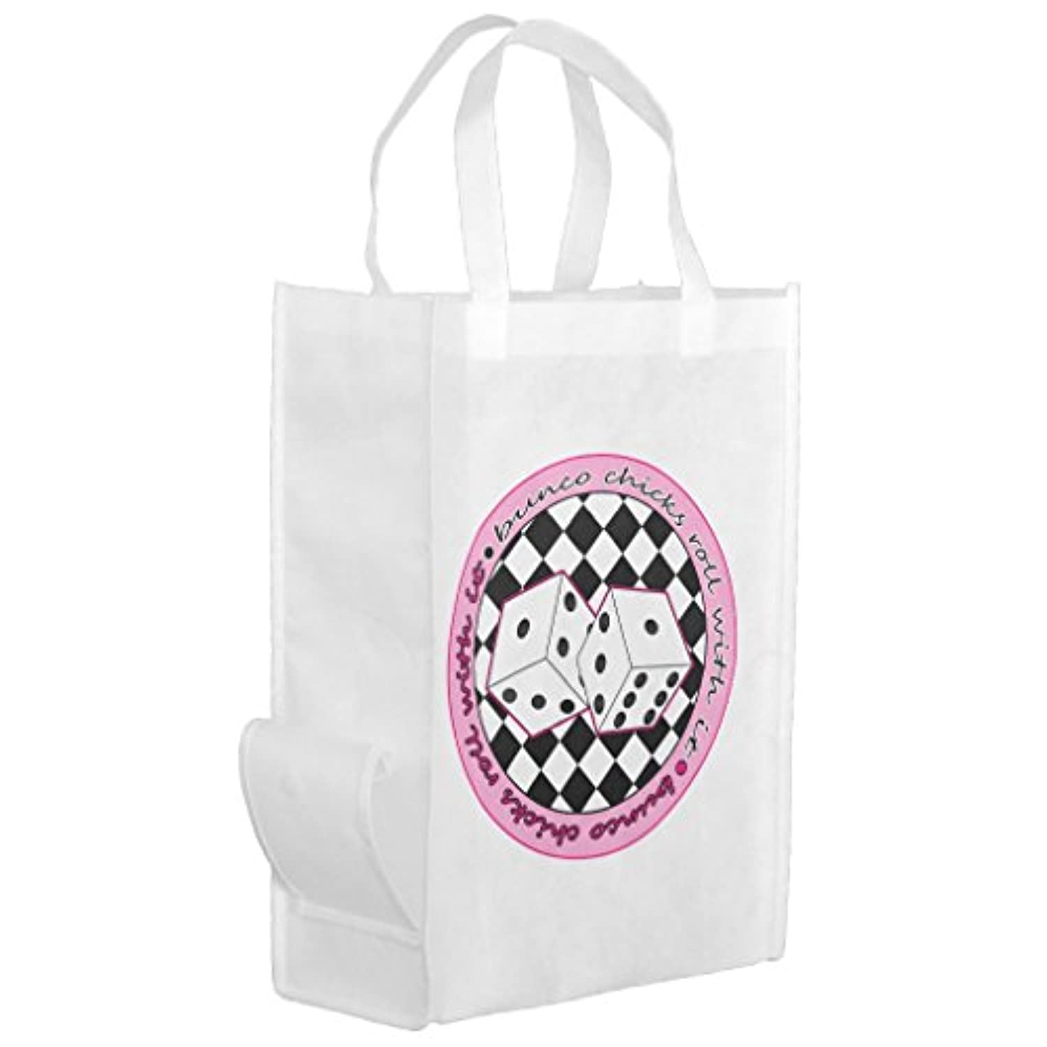 Zazzle Bunco Chicks Roll with It – ピンクGrocery Bag