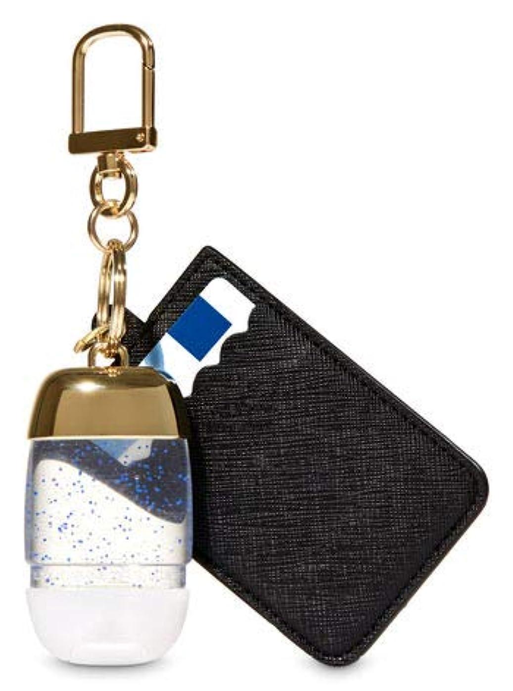 流行している窒息させる剃る【Bath&Body Works/バス&ボディワークス】 抗菌ハンドジェルホルダー カードケース ブラック&ゴールド Credit Card & PocketBac Holder Black & Gold [並行輸入品]