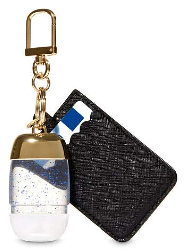 ポータルロゴ管理【Bath&Body Works/バス&ボディワークス】 抗菌ハンドジェルホルダー カードケース ブラック&ゴールド Credit Card & PocketBac Holder Black & Gold [並行輸入品]