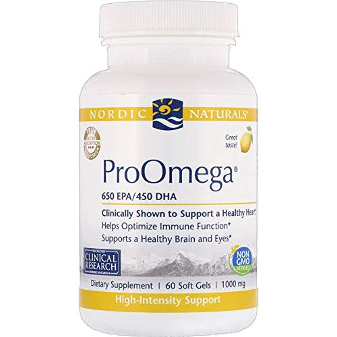 クレジット負担インゲンNordic Naturals ProOmega プロオメガ レモン味 650 EPA / 450 DHA 1000 mg 60粒 [海外直送品]