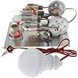 SM SunniMix 二重気筒 パラレル スターリングエンジン モーター発電機模型 科学実験おもちゃ
