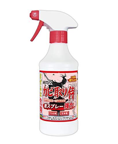 カビ取り侍 液スプレー 500g 強力タイプ 風呂 部屋の壁紙 土壁 クロス エアコン KZ-L500P