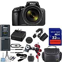 Nikon Coolpix p900Wi - Fi 83x Zoomデジタルカメラ+予備交換バッテリー+元アクセサリ+ ExtremeSpeed 32GB Commanderメモリ+ Spider柔軟な三脚+デラックス携帯ケース+ 12pcバンドル