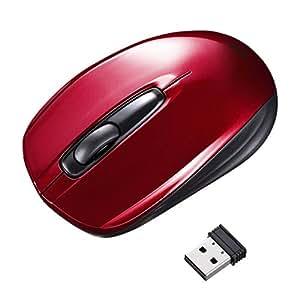 サンワサプライ ワイヤレス光学式マウス レッド MA-WH126R