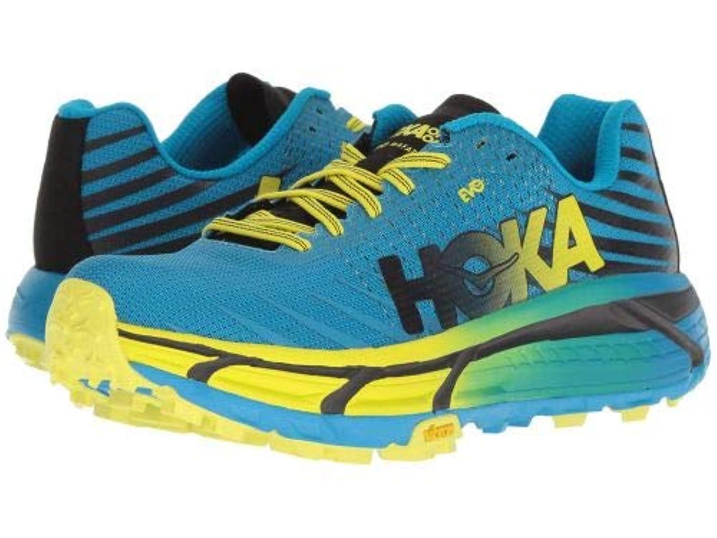 専門化するシネマ池Hoka One One(ホカオネオネ) レディース 女性用 シューズ 靴 スニーカー 運動靴 Evo Mafate - Cyan/Citrus [並行輸入品]
