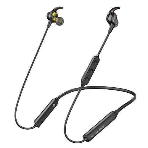 【高音質 Bluetooth 5.0】SoundPEATS(サウンドピーツ) Engine Bluetooth イヤホン デュアルドライバーイヤホン 13時間連続再生 APT-X LL対応 IPX6防水 ブルートゥース イヤホン ネックバンド型 マグネット搭載 マイク付き ワイヤレス イヤホン Bluetooth ヘッドホン [メーカー1年保証] (ブラック)