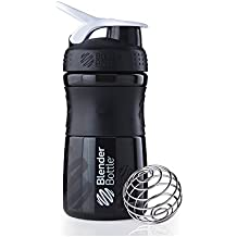 Blender Bottle Sport Mixer 20oz (590ml) Black/White, 20 Ounce