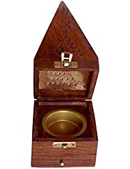 クリスマスギフト木製円錐Incense Burner AshキャッチャーHome Fragranceアクセサリー